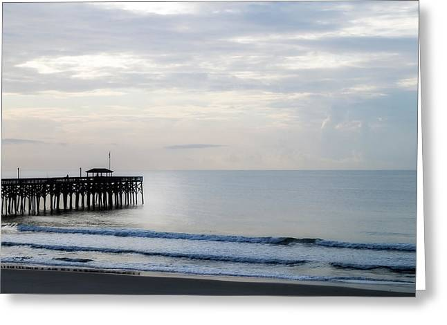 Greeting Card featuring the photograph Daybreak At Pawleys Island by Frank Bright