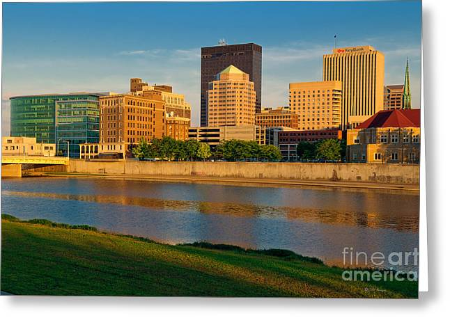 D4u-379 Dayton Skyline Photo Greeting Card