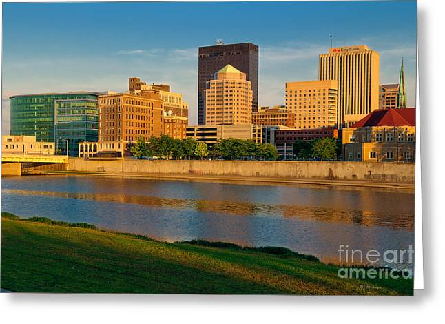 D4u-379 Dayton Skyline Photo Greeting Card