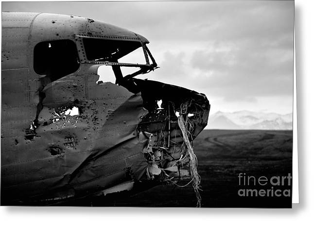 Greeting Card featuring the photograph Dc 3 Iceland by Gunnar Orn Arnason