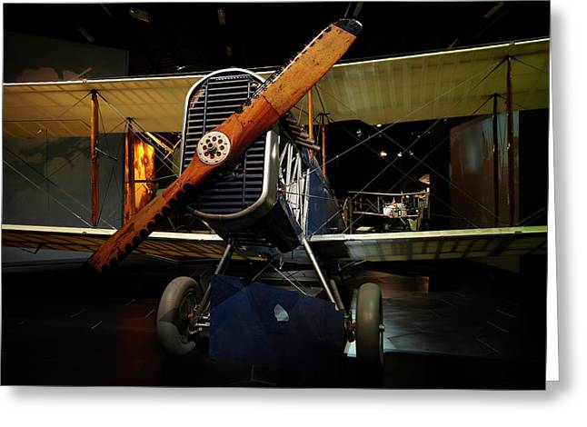 De Havilland Dh4 Biplane, Omaka Greeting Card by David Wall
