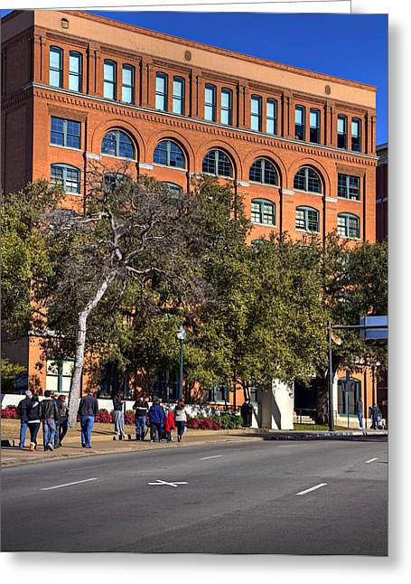 Dealey Plaza Greeting Card by Ricky Barnard