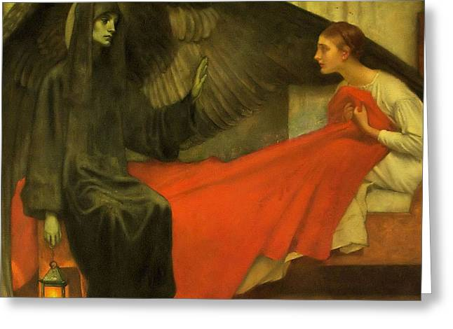 Death And The Maiden Greeting Card by MotionAge Designs