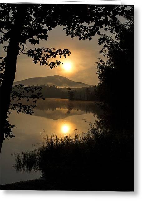 Debar Mt. - Clear Pond Sunrise Greeting Card by Steve Auger