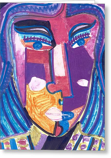 Deco Violeta Greeting Card