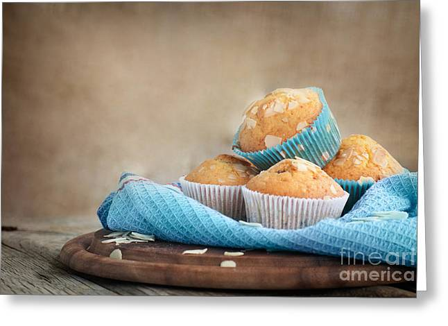 Delicious Muffins Greeting Card by Mythja  Photography