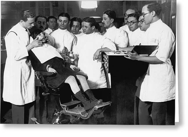 Demonstrating Orthodontia Greeting Card by Underwood Archives