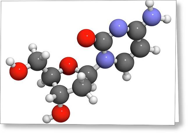 Deoxycytidine Nucleoside Molecule Greeting Card by Molekuul