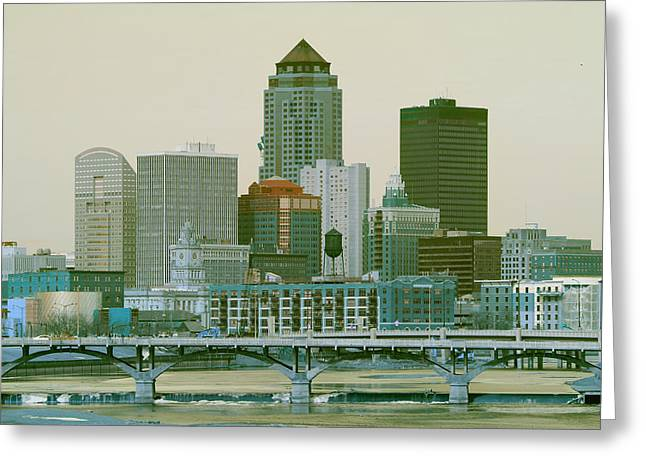 Des Moines Cityscape  Greeting Card