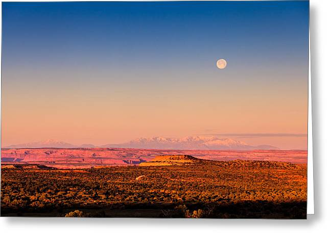 Desert Moonset Greeting Card