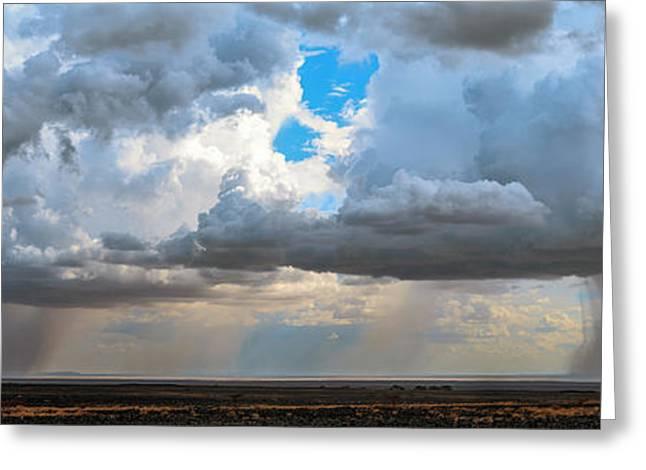 Desert Rainclouds Greeting Card by Babak Tafreshi