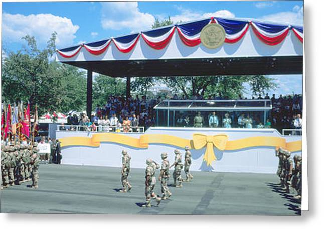 Desert Storm Victory Military Parade Greeting Card by Panoramic Images