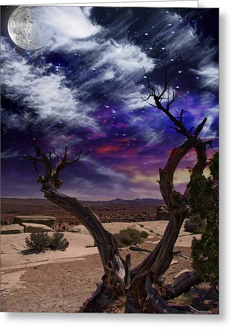 Greeting Card featuring the digital art Desert Tree by Bruce Rolff