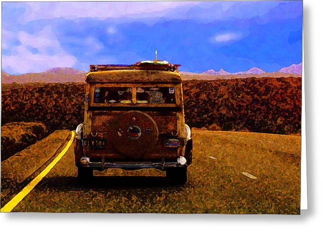 Desert Woodie Greeting Card by Ron Regalado