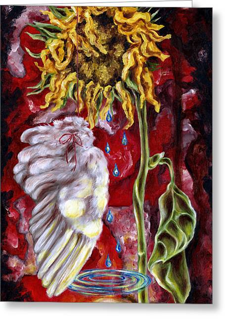 Best Selling Flower Art Greeting Cards - Despair and Hope Greeting Card by Hiroko Sakai