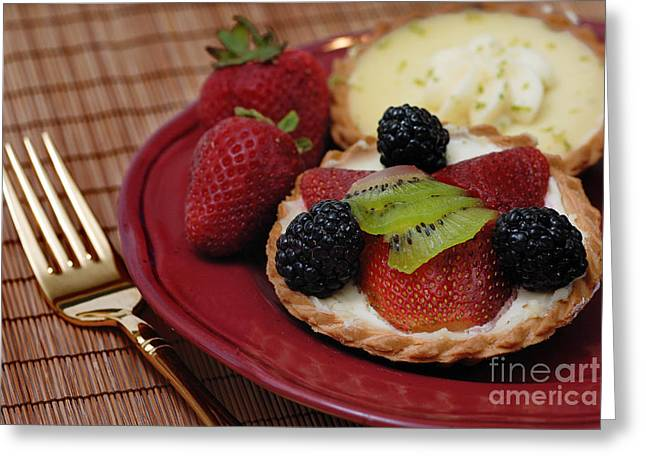 Dessert Tarts Greeting Card by Amy Cicconi