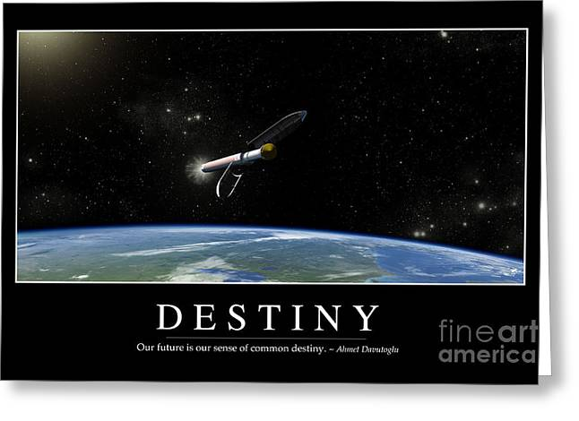 Destiny Inspirational Quote Greeting Card by Stocktrek Images