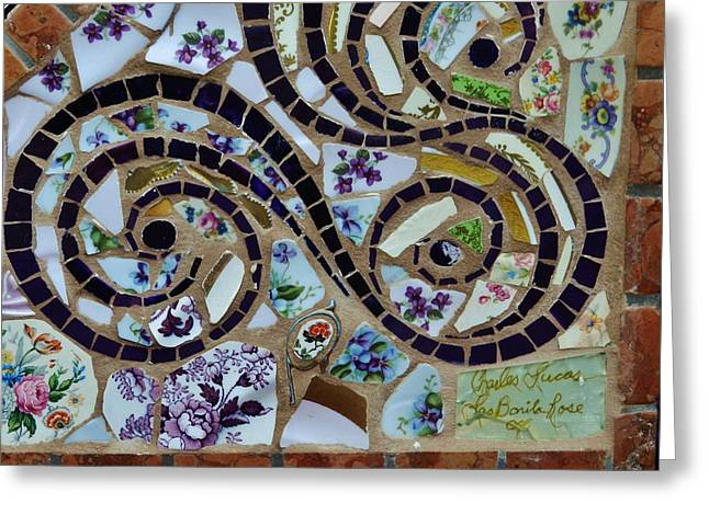 Detail Mosaics Greeting Card by Charles Lucas
