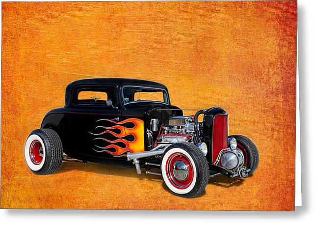 Deuce Coupe 1932 Ford Greeting Card by Robert Jensen