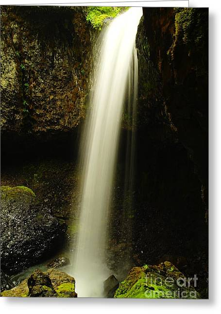 Devil Creek Falls Greeting Card by Jeff Swan