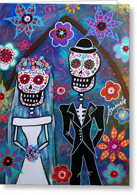 Dia De Los Muertos Wedding Greeting Card by Pristine Cartera Turkus