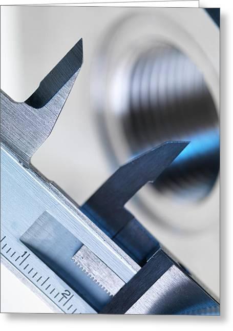Dial Caliper Greeting Card by Tek Image