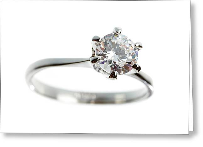 Diamond Ring Greeting Card by Science Photo Library