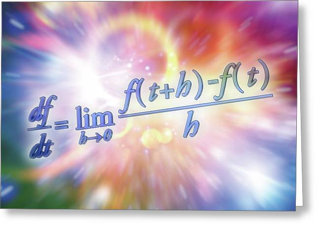 Differential Calculus Equation Greeting Card by Alfred Pasieka
