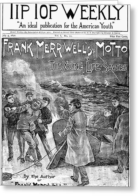 Dime Novel, 1896 Greeting Card by Granger