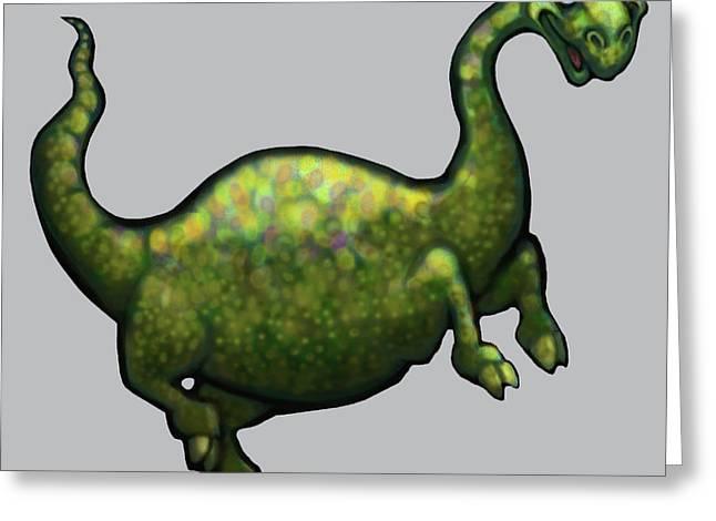 Dinosaur Greeting Card by Kevin Middleton
