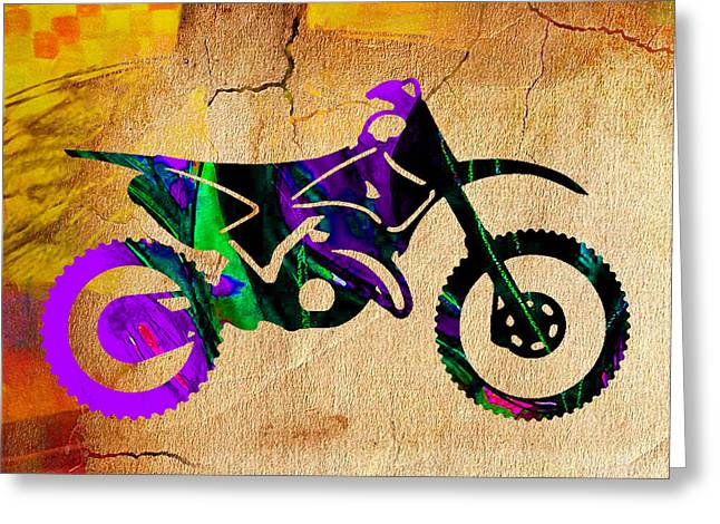 Dirt Bike Painting Greeting Card by Marvin Blaine
