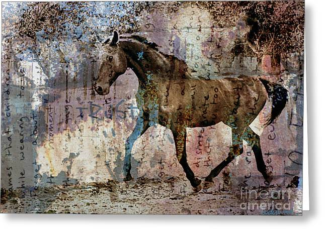 Dissolution Greeting Card by Judy Wood