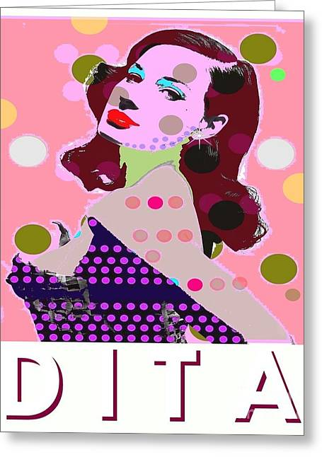 Dita Greeting Card by Ricky Sencion
