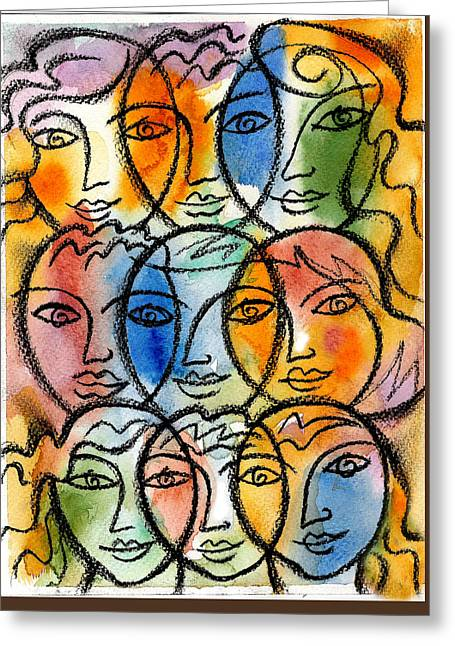 Diversity Greeting Card by Leon Zernitsky