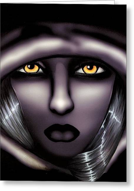 Divine Darkness Greeting Card by Elaina  Wagner
