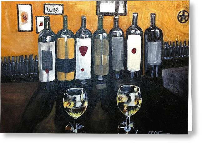 Divine Wine Greeting Card by Melissa Torres