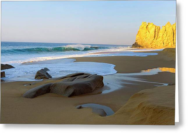 Divorce Beach, Cabo San Lucas, Baja Greeting Card by Douglas Peebles