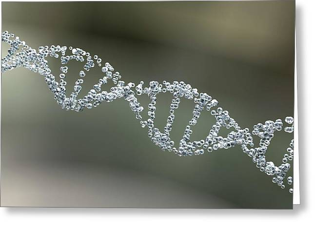 Dna Molecule Greeting Card by Kateryna Kon