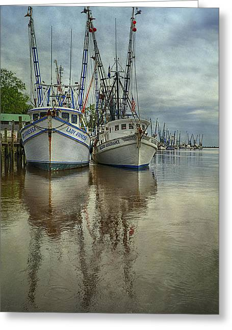 Docked Greeting Card by Priscilla Burgers