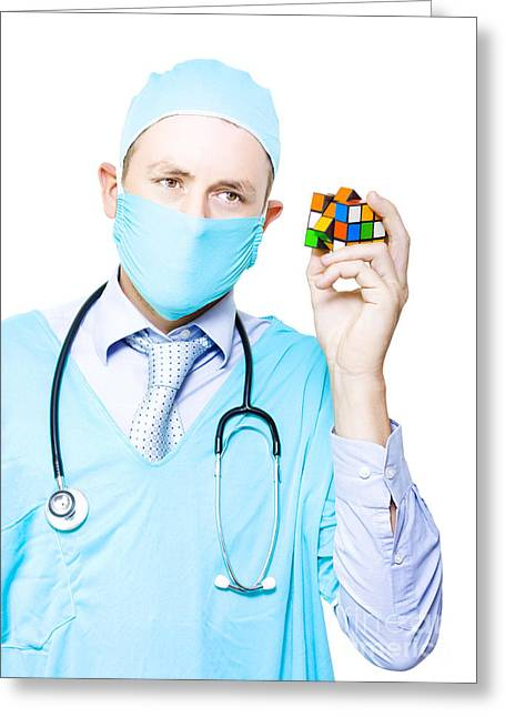 Doctor Problem Solving Medical Complications Greeting Card by Jorgo Photography - Wall Art Gallery