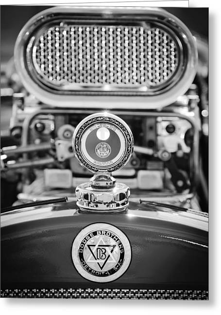 Dodge Brothers Moto Meter - Emblem Greeting Card by Jill Reger