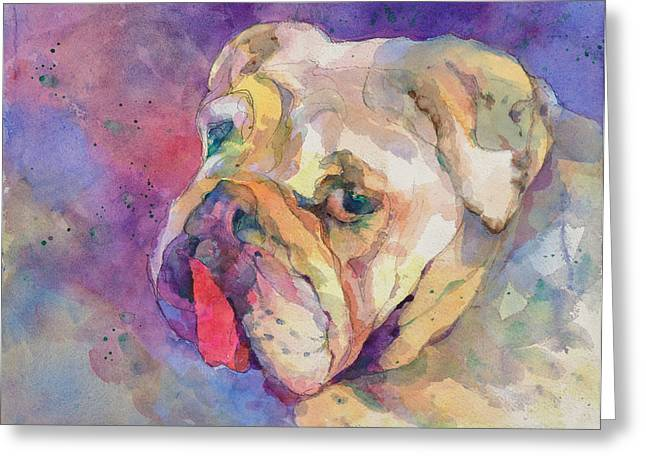 Dog-tired Greeting Card by Beverly Berwick