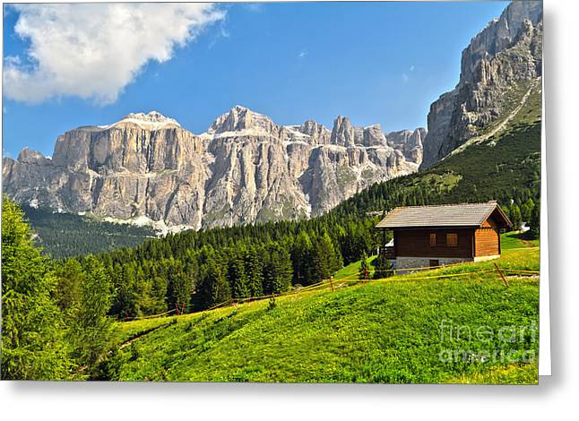 Dolomiti - High Fassa Valley Greeting Card by Antonio Scarpi