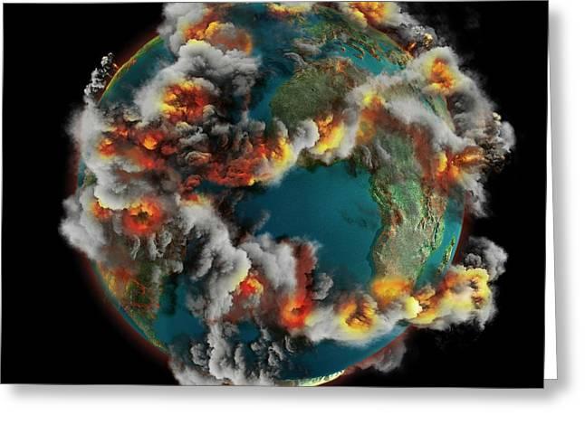 Doomsday Volcanoes Greeting Card by Claus Lunau