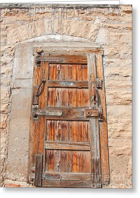 Greeting Card featuring the photograph Door Series 1 by Minnie Lippiatt
