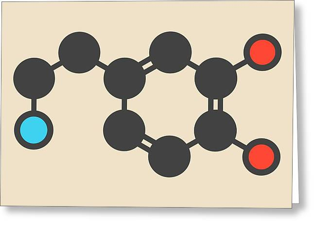 Dopamine Neurotransmitter Molecule Greeting Card by Molekuul