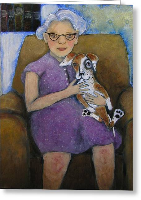 Doris And Maisie Greeting Card by Cindy Riccardelli