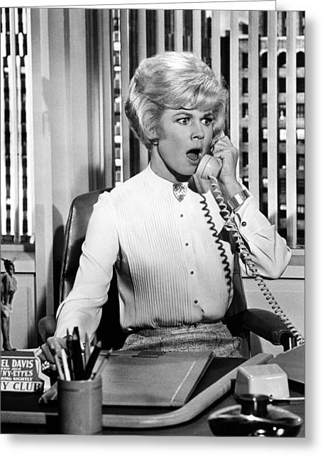 Doris Day In Lover Come Back  Greeting Card by Silver Screen