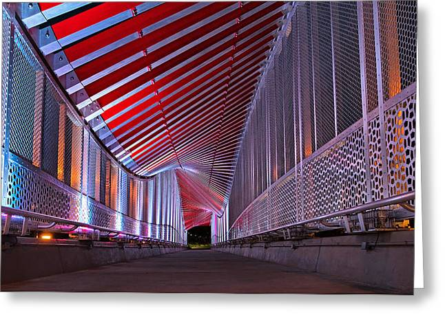 Double Helix Footbridge Greeting Card