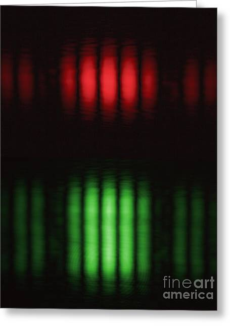 Double-slit Experiment Greeting Card by GIPhotoStock